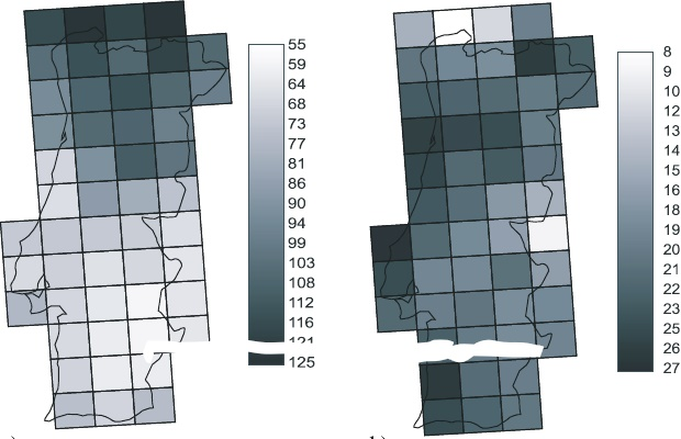 Hortal et al. (Ecography 2004) Butterfly species richness in mainland Portugal