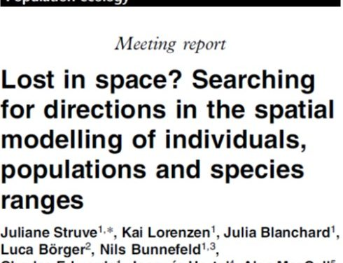 Struve et al. (2010 Biol Lett) Directions in spatial modelling of individuals, populations and species ranges