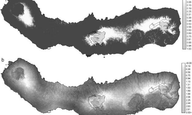 Hortal et al. (2010 J Nat Conserv) Assessing the areas under risk of invasion: P. undulatum in São Miguel, Azores