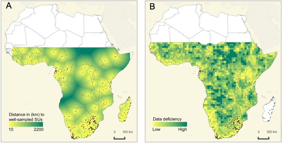Stropp et al (Global Ecol Biogeogr 2016) Mapping ignorance on African flowering plants